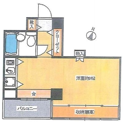 OYO LIFE #1814 ファインズコート北新宿 の間取り