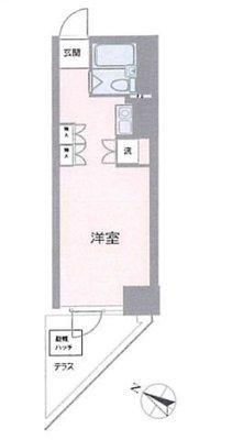 OYO LIFE YHA037 グリフィン横濱・ウェスタ の間取り