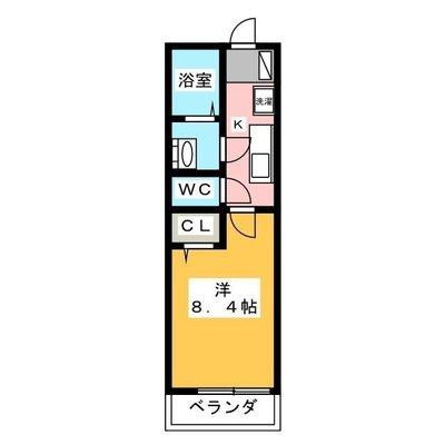 OYO LIFE #2207 リブリ・川越新宿町 の間取り