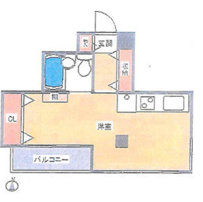 OYO LIFE #1682 ファインズコート北新宿 の間取り