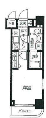 OYO LIFE #2895 グリフィン横浜・桜木町駅前 の間取り