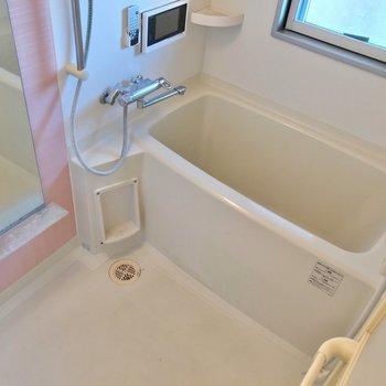 お風呂の窓はバルコニーに面しています。テレビを見ながらゆっくり疲れを取りましょう。