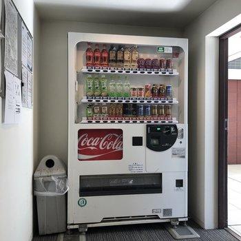 その向かい側には自販機が。外出が面倒な日に嬉しい...…!