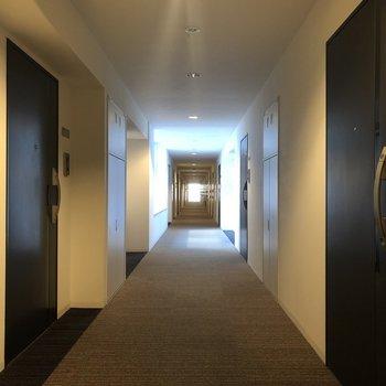 こちらの長〜い廊下をちょっと進んだところに...