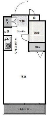 OYO LIFE #3264 モナークマンション堀切菖蒲園 の間取り