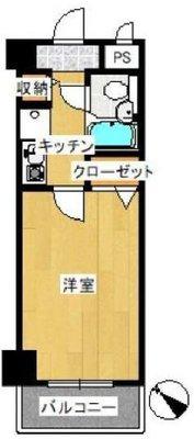 OYO LIFE #3672 日神パレステージ町田 の間取り