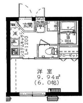 OYO LIFE #3859 TRマンション渋谷初台 の間取り