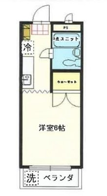 OYO LIFE #2021 シャンポール原田 の間取り