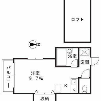 居室が広いです
