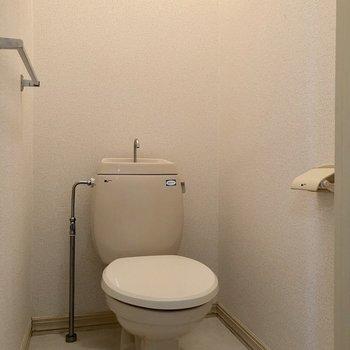 右側の扉にはトイレがあります。バス・トイレ別なのは嬉しいですね