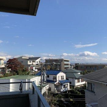 眺望は近隣を俯瞰から。