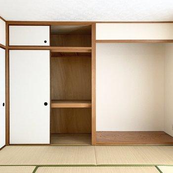 【和8】天袋付き押入は収納力たっぷり。(※写真は同間取り3階のお部屋です)