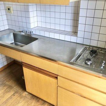 調理スペースも広く、お料理も捗りそう。