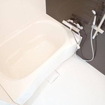奥のバスルーム。シャワーがけは可動式です
