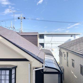 横窓からの景色です