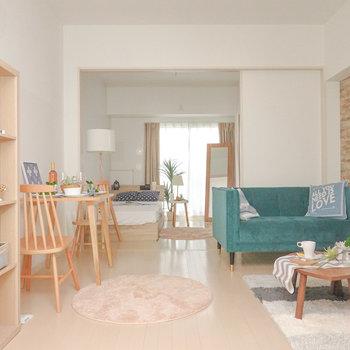 都会で暮らすならこんな風に。2020年2月入居可能予定の新築!(※写真は2階の同間取り別部屋、モデルルームのものです)