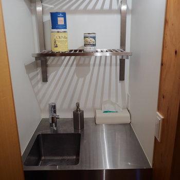 コンパクトな洗い場も完備しています