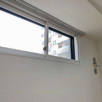この窓は南向きです。