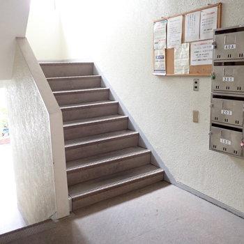 階段でのぼっていきます