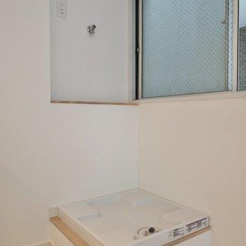 洗濯機置き場は居室に。