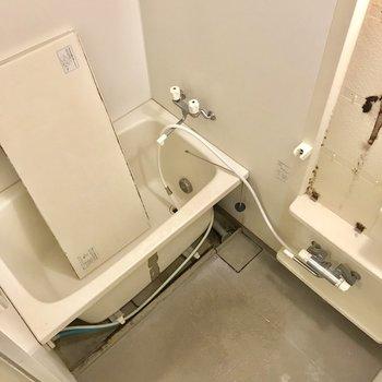 お風呂はコンパクト※写真は2階の同間取り別部屋、クリーニング中のものです。