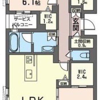 対面キッチンに、収納力が魅力の3LDKです。