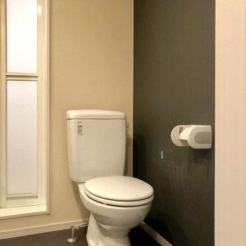 トイレはオープン。脱衣場と同じ空間です。きれいに保とう!(※写真は清掃前です)