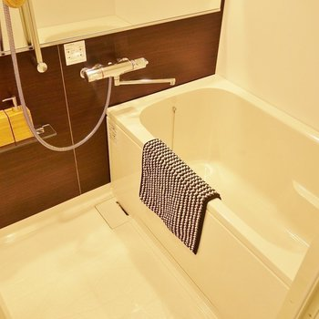 お風呂もゆったり!大きい鏡でスタイルチェック!※写真は別室です。