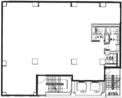 三越 65.34坪 オフィスの間取り図