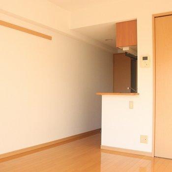 意外と奥行きがあります※写真は4階の反転間取り別部屋のものです