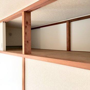 【居室:間取り図左】天袋もボリューミーですよ。