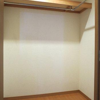 【洋室】開けると、大きなウォークインクローゼットが
