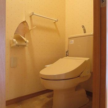 トイレはウォシュレット付きです※写真はクリーニング前のものです