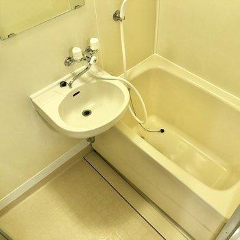 2点ユニットバス。顔洗い歯磨きはここで。