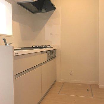 ゆとりのあるキッチン。