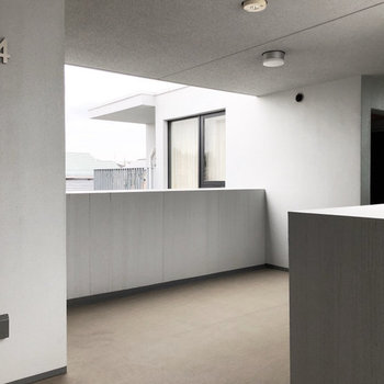 共用スペース、それぞれのお部屋の配置が斬新!