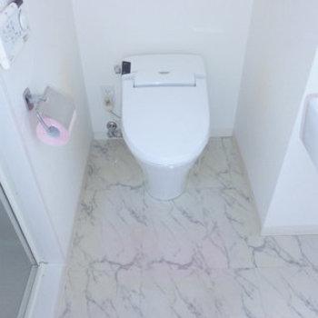 トイレは嬉しいウォシュレット付き。(※写真は同間取り別室のものです)