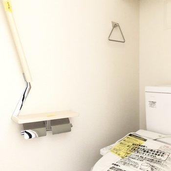 収納棚付きのトイレです。※写真は前回募集時のものです