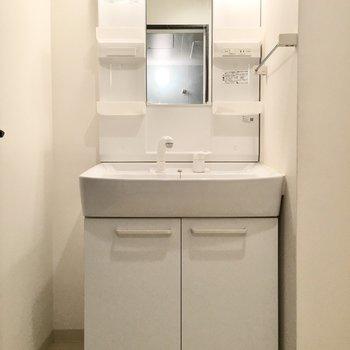 洗面台はゆったりシャンプードレッサー。