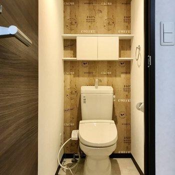 トイレはCafé仕様。