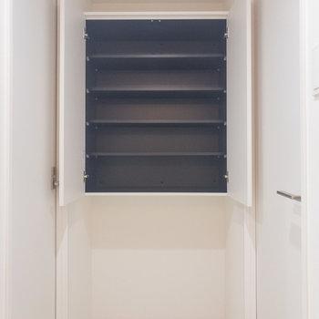 脱衣所の棚にタオルやインナーを収納出来ます