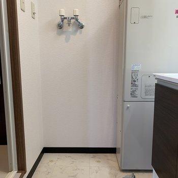 洗濯機を置いてもスペースは確保できそう