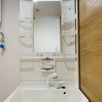 シャワー付きの洗面台