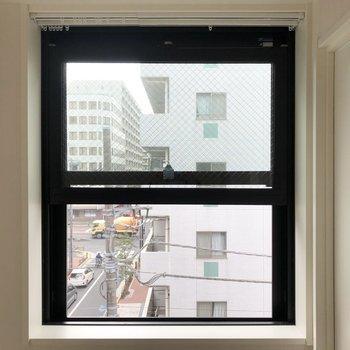 小窓からの眺め。