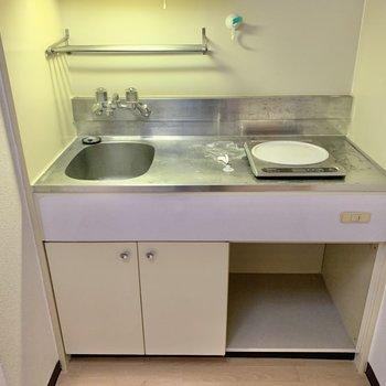 IHの下には冷蔵庫が置けますね。