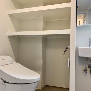 猫のトイレが置けるスペースもあるんです