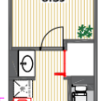 バストイレ別、室内も広く使える間取り!