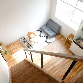 背の低い家具を揃えて開放的なインテリアづくりをしたい!(※写真はモデルルームです。)