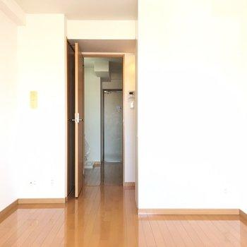 ドアの陰に隠れた収納が、、、
