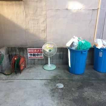 ゴミ置き場です。